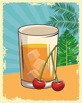 Alkoholisches getränk getränk cartoon