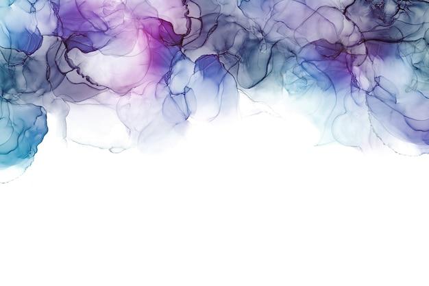 Alkoholtinte seetextur. abstrakter hintergrund der fließenden tinte. bunter abstrakter malhintergrund