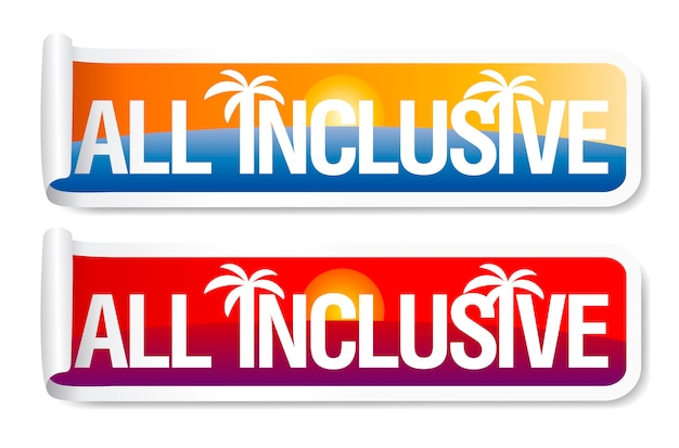 All-inclusive-aufkleber gesetzt