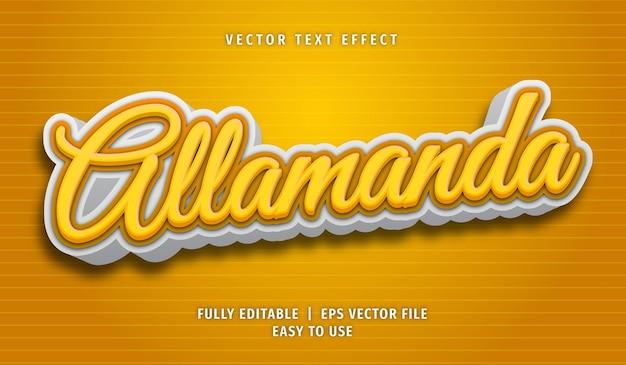 Allamanda-texteffekt, bearbeitbarer textstil
