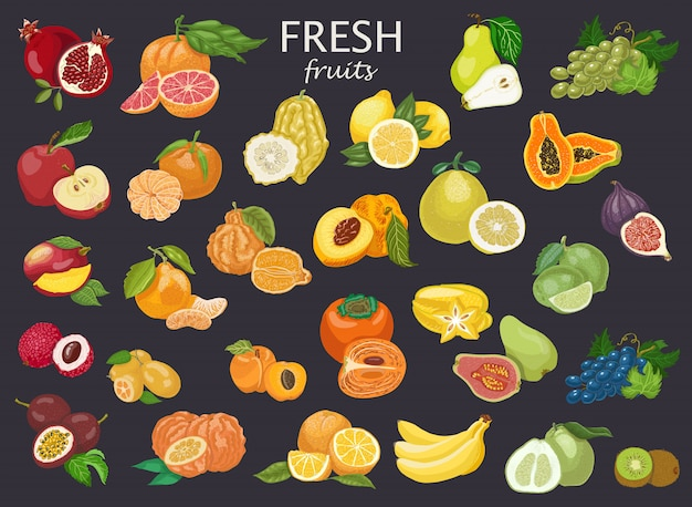 Alle arten von früchten
