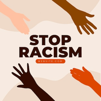 Alle leben sind wichtig, um rassismus und diskriminierung zu stoppen