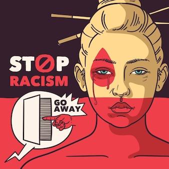 Alle leben sind wichtig, um rassismus zu stoppen