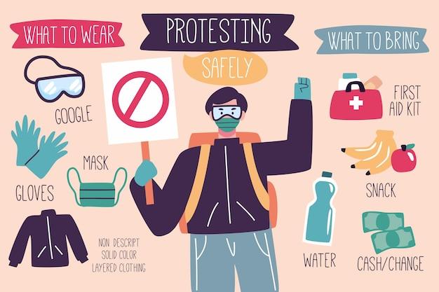 Alle leben sind wichtig, um zu protestieren und in sicherheit zu sein