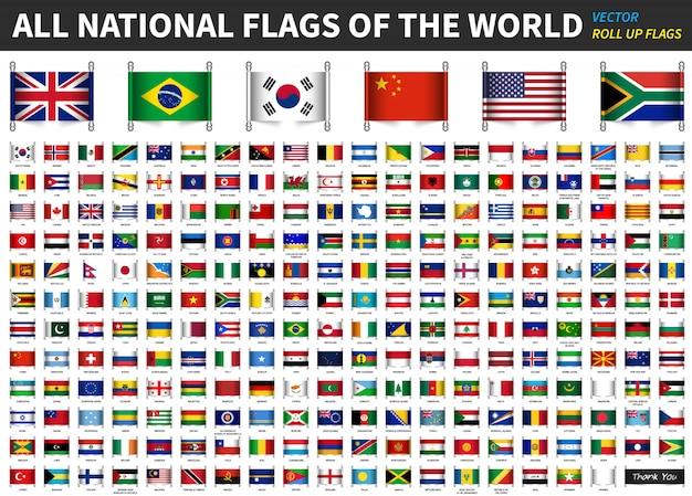 Alle offiziellen nationalflaggen der welt