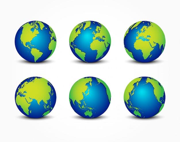 Alle seiten des planeten