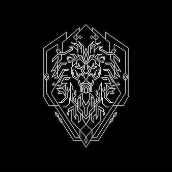 Allein alter könig lion geometry line style