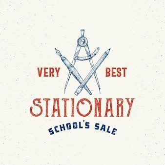 Allerbeste schule stationäre abstrakte vektor-zeichen, symbol oder logo-vorlage.