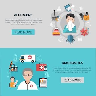 Allergie-banner-set