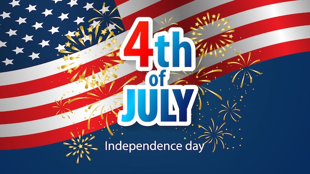 Alles gute zum 4. juli urlaub banner. usa-unabhängigkeitstag