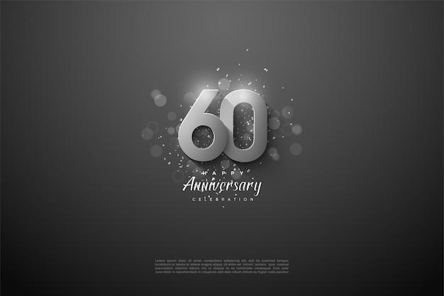 Alles gute zum 60. jahrestag hintergrund