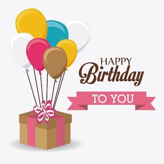 Alles Gute zum Geburtstag Design.