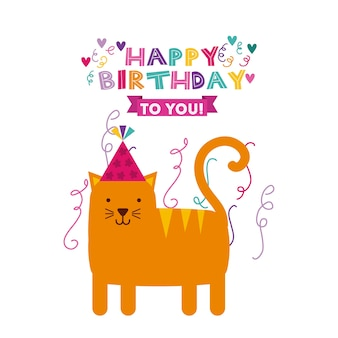 Alles Gute zum Geburtstag Feier Kartensymbol