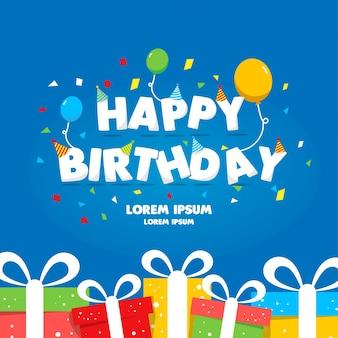 Alles Gute zum Geburtstag-Schablone Geschenkkarte
