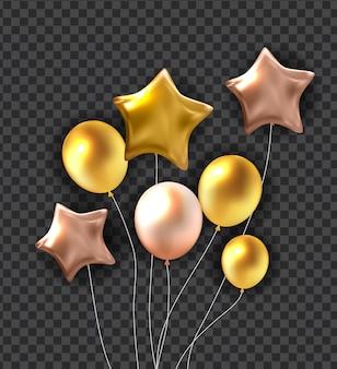 Alles gute zum geburtstag steigt hintergrund im ballon auf