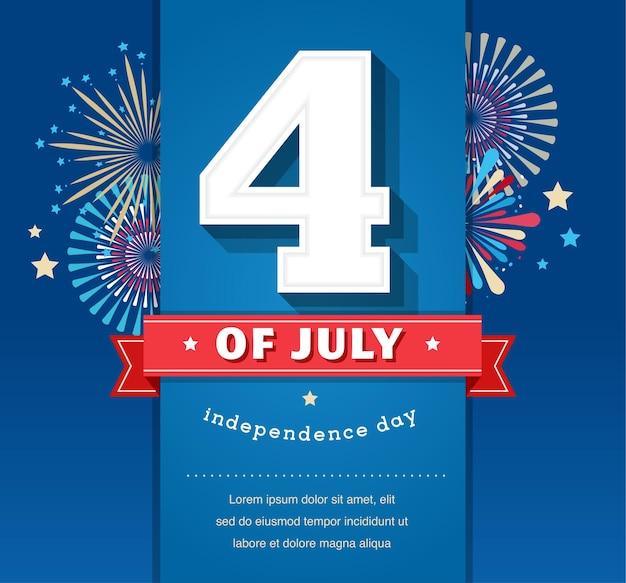 Alles gute zum unabhängigkeitstag vereinigte staaten von amerika im juliju