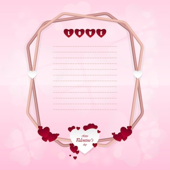 Alles gute zum valentinstag und herzförmige designelemente