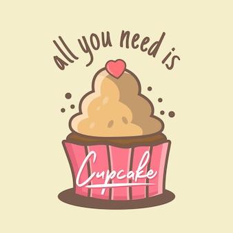 Alles was sie brauchen, ist cupcake