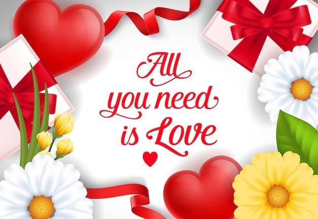 Alles, was sie brauchen, ist love banner