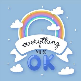 Alles wird gut und regenbogen
