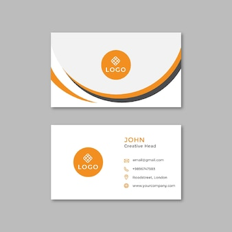 Allgemeine business doppelseitige visitenkarte horizontal