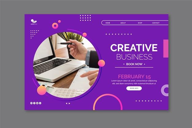 Allgemeine business-homepage-vorlage