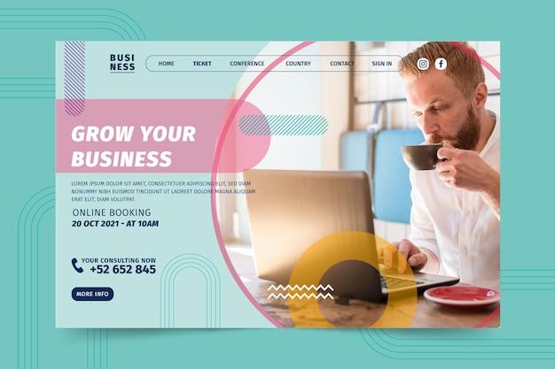 Allgemeine business landing page vorlage