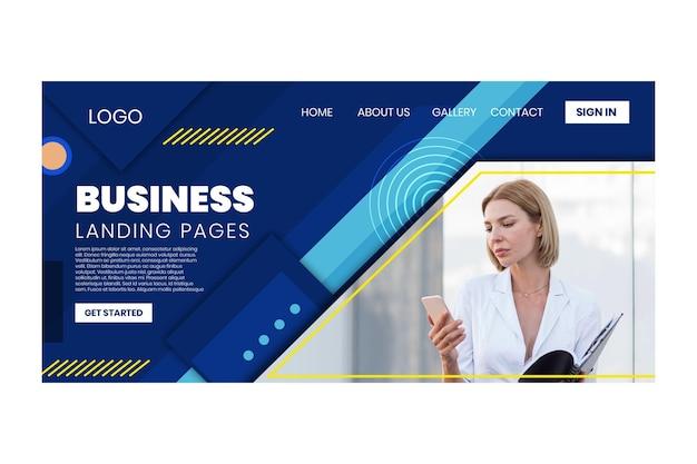 Allgemeine business-landingpage