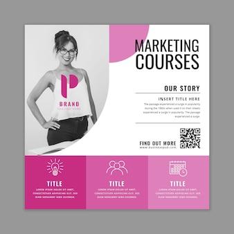 Allgemeine business-quadrat-flyer-vorlage