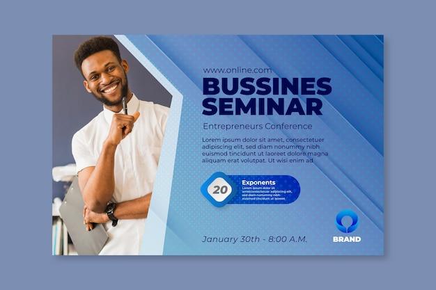 Allgemeine business seminar banner vorlage