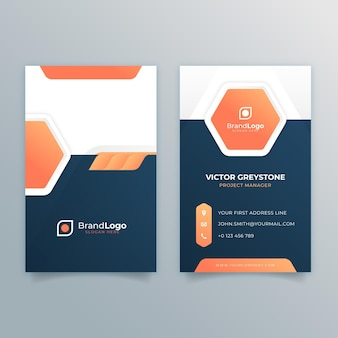Allgemeine doppelseitige visitenkarte