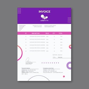 Allgemeine geschäftsrechnungsvorlage mit formen