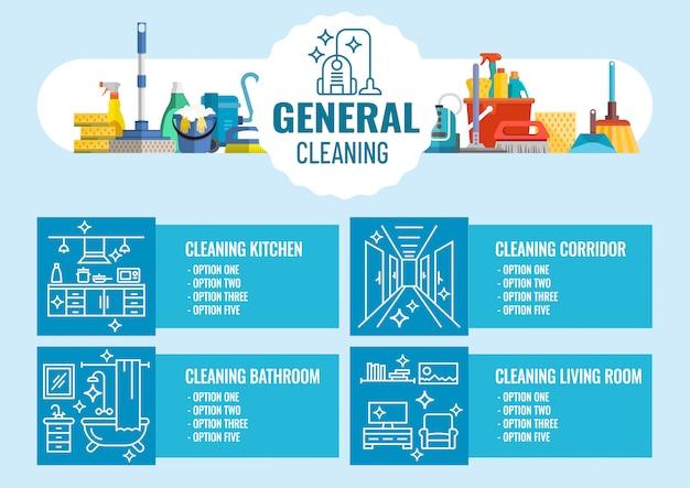 Allgemeine reinigung