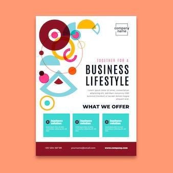 Allgemeines vertikales business-flyer