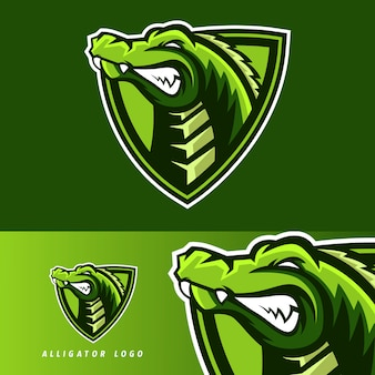 Alligator esport gaming maskottchen emblem