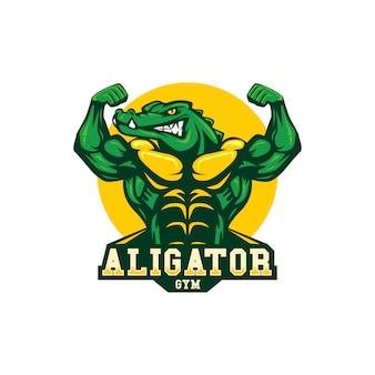 Alligator maskottchen logo