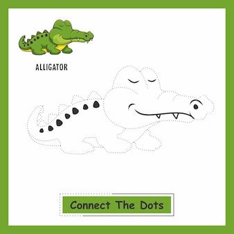 Alligator verbinden die punkte