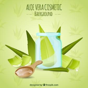 Aloe vera grünen hintergrund