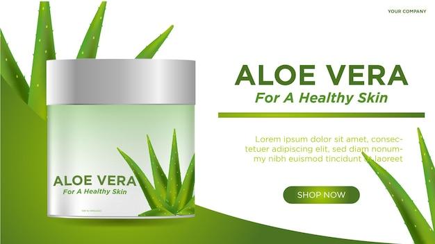 Aloe vera kosmetikbanner