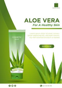 Aloe-vera-kosmetikbroschüre
