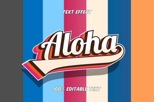 Aloha bearbeitbarer texteffekt