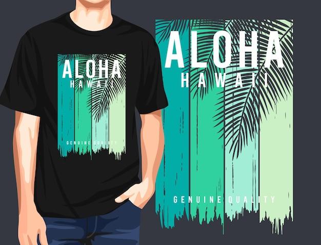 Aloha hawaii grafik t-shirt