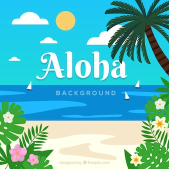 Aloha Strand backgorund