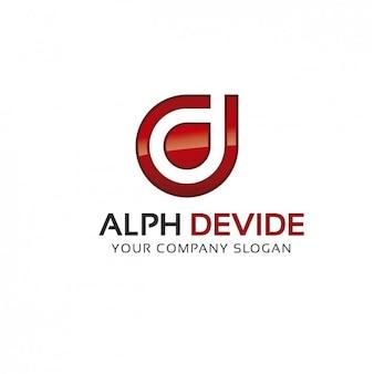 Alpha logo-vorlage