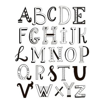 Alphabet beschriftet