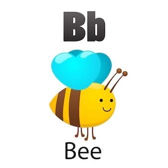 Alphabet-buchstabe b-biene