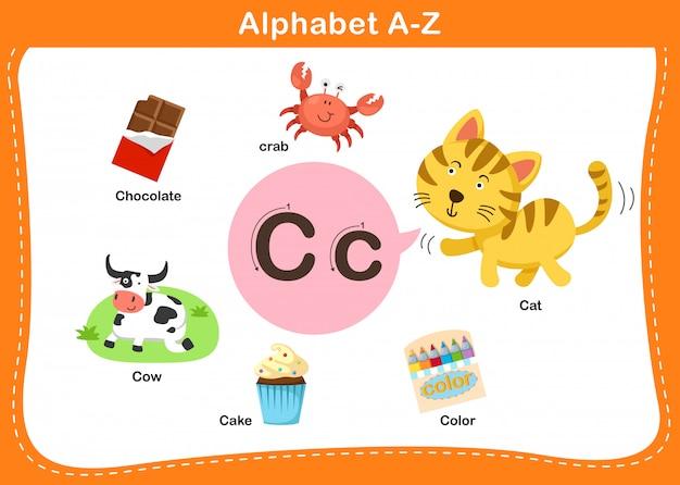 Alphabet buchstabe c.