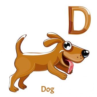 Alphabet, buchstabe d des hundes