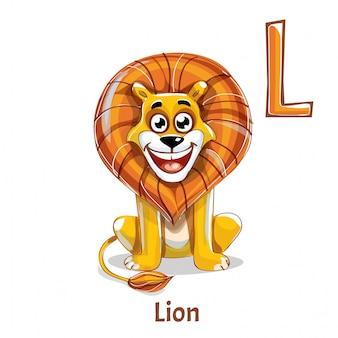 Alphabet, buchstabe l des löwen