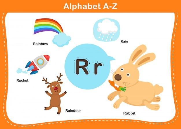 Alphabet buchstabe r illustration